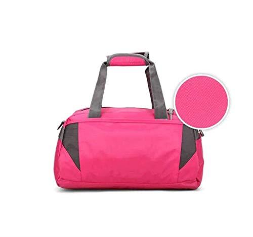 ZENGZHIJIE Rucksack Unisex Canvas Tote, Reisetasche Overnight Weekend Weekend Herren Tasche und Damen Tasche Tasche (Color : PINK, Size : 40 * 22 * 23CM)