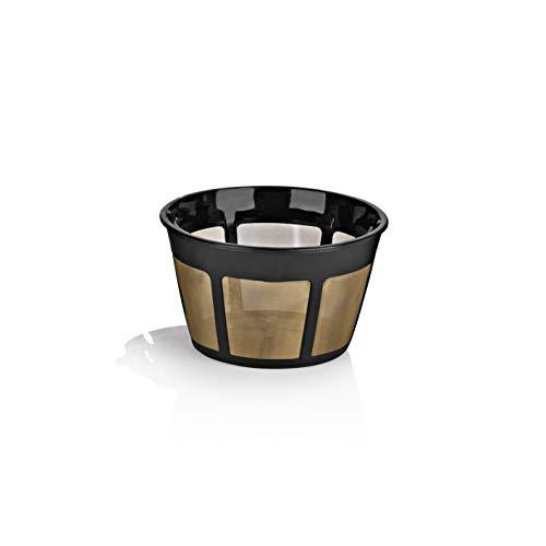 BEEM Permanent-Korbfilter | Permanent Kaffeefilter | Wiederverwendbar | Umweltfreundlich | Dauerfilter | goldfarben | 10 Tassen | papierlos