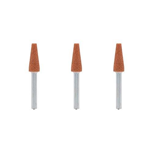 Dremel 953 Korund-Schleifspitze - Zubehörsatz für Multifunktionswerkzeug mit 3 Schleifspitzen 6.4mm zum Schärfen, Glätten und Schleifen von Metall, Gussteile, Schweißverbindungen, Nieten und Rost