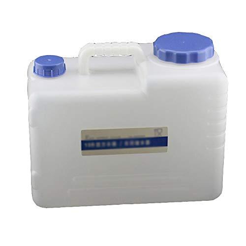 Guoda Wasserkanister PE-Material In Lebensmittelqualität   Mit Wasserventil   Tragbar   Weiß (Size : 23L)