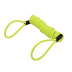 ☆【Good Elasticity】: The disc lock anti-theft security spring reminder coil cable has good elasticity, which can be stretched to 1.5m and can reach from short to tall handlebars. ☆【With 2 Looped-Ends】: The spring reminder cable with 2 looped-ends: one...