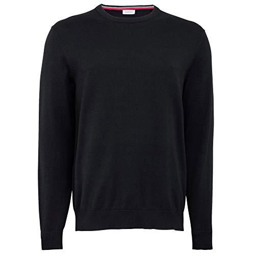 ESPRIT Herren 996EE2I900 Pullover, Schwarz (001), 01/19, L
