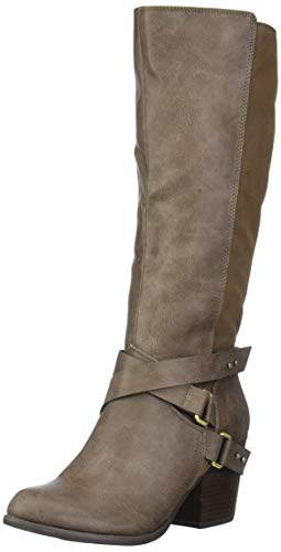 Fergalicious Women's Loyal Knee High Boot, Taupe, 6 M M US