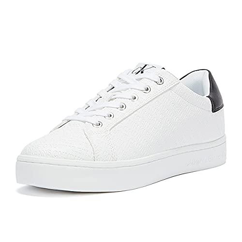 Calvin Klein Jeans – Zapatillas deportivas para mujer con logotipo All-Over – Talla, Color blanco., 37 EU