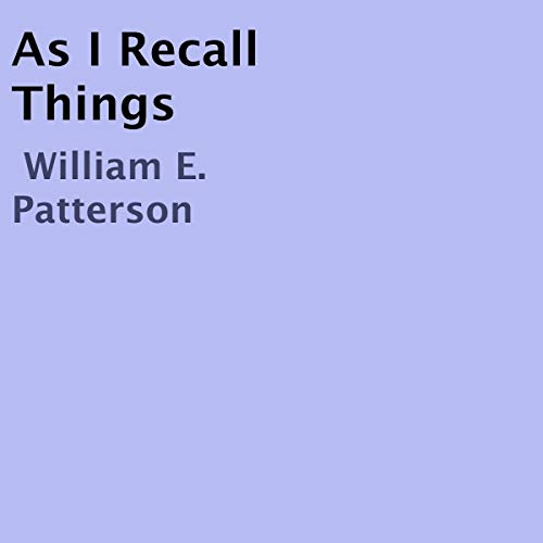 As I Recall Things cover art