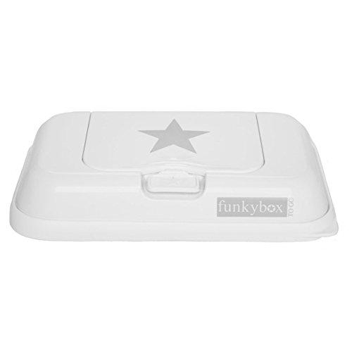 Caja para viajes resistente a la humedad de Funky Box Togoen color blanco con estrellas.