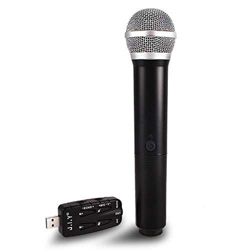 XBRMMM USB-Funkmikrofon, Gesangsmikrofon Mit USB-Empfänger Für PC-Computer, Laptop, Android-Smartphone, PA, Podcasting, Konferenz, YouTube-Aufnahme, Karaoke-Gesang, Gaming, Vlogging