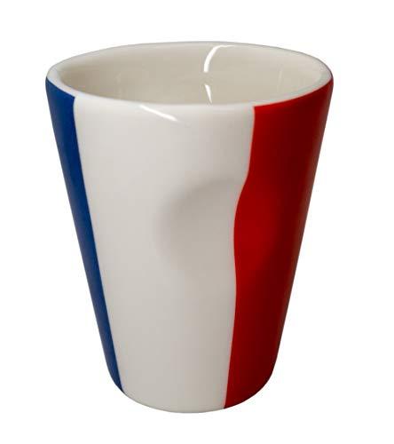 Taza de porcelana para expreso diseño bandera Francia