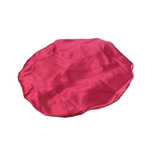 QHKS Bonnet à double couche pour dormir rouge