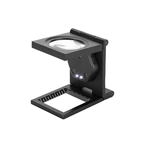 30Xスタンドルーペ 拡大鏡 虫眼鏡 LEDライト付き 折りたたみ式ポケットルーペ ポータブルルーペ 電話 コンピュータ修理 手芸 精密作業 読書適用