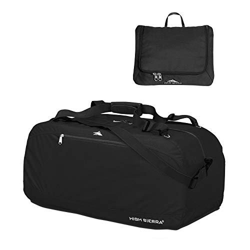 High Sierra Pack-N-Go Duffel Bag, Black, 36-Inch