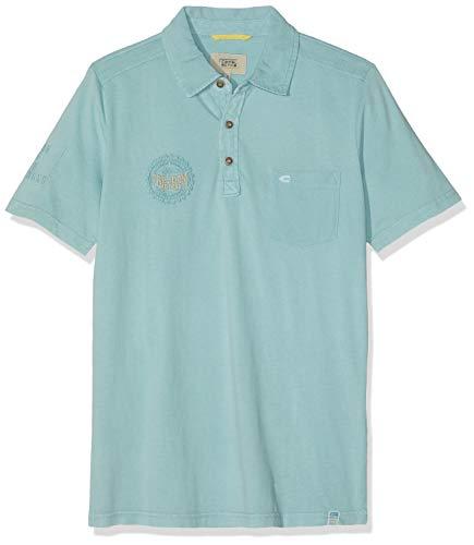 camel active Herren Polo 1/2 Jersey Poloshirt, Grün (Mint 51), (Herstellergröße: XX-Large)
