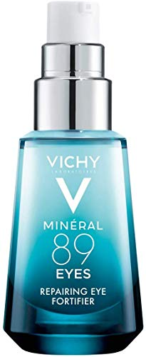 Vichy Mineral 89 Eyes Serum with Caffeine and Hyaluronic Acid, Lightweight Eye Cream Gel to Smooth Fine Lines and Hydrate Eye Area, Suitable for Sensitive Skin & Fragrance Free