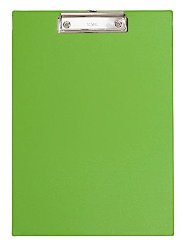 Maul 2335254 Schreibplatte Folienüberzug, Klemmbrett A4 Hoch, Grün, 1 Stück