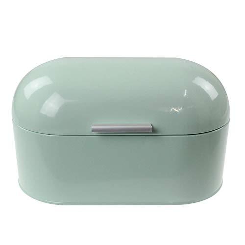 apollo THE HOUSEWARES BRAND 3782 Apollo Bread bin Metal Mint, Multi-Colour, 34x17x19, Stainless Steel