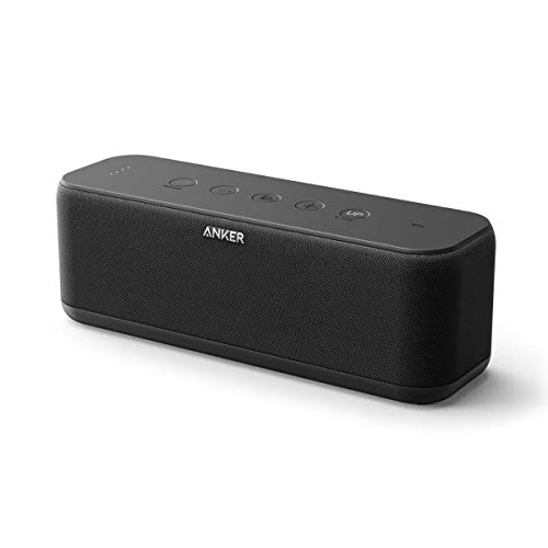 Anker So&Core Boost Bluetooth Lautsprecher, 20W Bluetooth Speaker mit BassUp Technologie, IPX5 Wasserfest, 12 St&en Spielzeit & 20m Reichweite, Duale Treiber für Hervorragender Klang und Bass