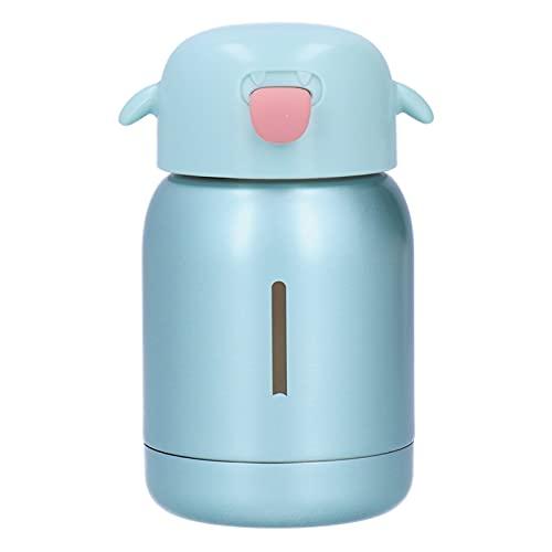 Atyhao Frasco de vacío de Acero Inoxidable para niños Mini Taza de Agua de Silicona portátil para bebés para la Escuela en casa(Verde)