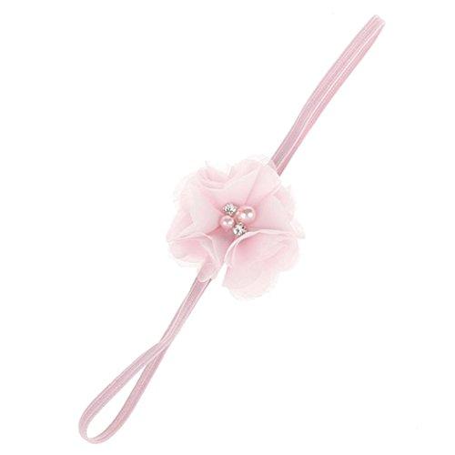 Huhu833 Kinder Mädchen Baby Kleinkind Blume Stirnband Haarband Baby Mädchen Zubehör Headwear für Kleinkinder (Rosa)