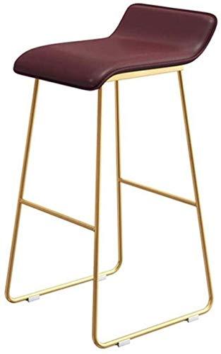 ZfgG barkruk, industriële stoel, voetensteun, met rugleuning, barstools, Kitchen Pub, Café, kruk, van PU-leer, vintage stoel, dubbele naalden, om te naaien, met achterkant, moderne set