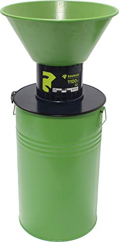 Saurium 48440 Elektrische Getreidemühle mit Dosierer, 1100 W, 52 l