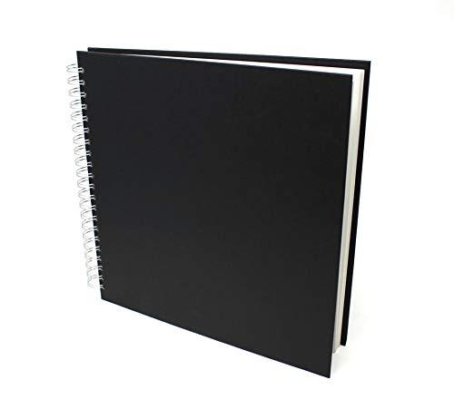 Artway Studio - Skizzenbuch mit Spiralbindung - säurefreies Zeichenpapier - Hardcover - 48 Blatt mit 170 g/m² - Quadratisch (285 x 285 mm)