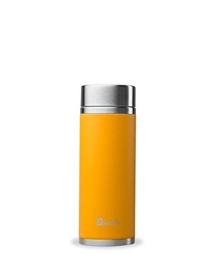 QWETCH Tetera isotérmica de Acero Inoxidable, Naranja, 300 ml