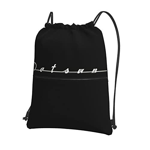 Datsun - Mochila con cordón para el coche, bolsa de polietileno, con cordón, grande, para deportes, gimnasio, para mujeres, hombres