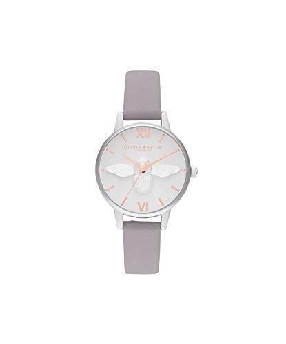 Olivia Burton Damen Analog Quarz Uhr mit Leder Armband OB16AM163