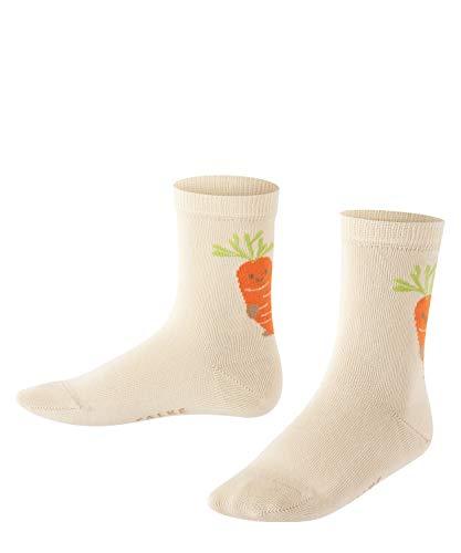 FALKE Jungen Carrot K SO Socken, Cremefarben (Creme 2050), 31-34 (7-9 Jahre)