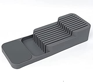 Plastic Knife Block Holder Drawer Knives Storage Rack Knife Stand Cabinet Tray Kitchen Drawer Cutlery Organizer Tableware ...