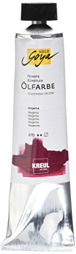 Kreul 31670 - Solo Goya Feinste Künstlerölfarbe, magenta 255 ml Tube, buttrig vermalbar, cremige Konsistenz, glänzend auftrocknend mit hervorragender Leuchtkraft