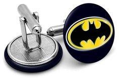 Bat Man boutons de manchette Boutons de manchette Unisexe, anniversaires, wedding. image imprimée