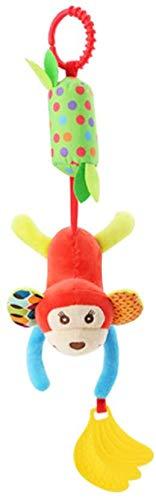 DIVISTAR Baby Handbells Sonajeros bebé sonajeros de peluche mono animal cochecito colgante campana juguete muñeca