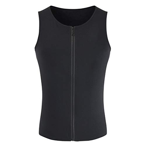 FULUN Men's Sleeveless Solid Color Tank Tops Vest Gilet Sportswear for Gym Fitness Running Workout Mens Casual Fashion Zipper Up Round Neck Slim Fit Cotton Linen Shirts T-shirt Sweatshirt Waistcoat