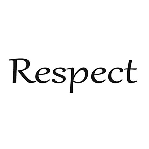 DENGC Etiqueta engomada de Respeto Proverbio Europeo y Americano Etiqueta de decoración de Sala de Estar Dormitorio Etiqueta de Lugar público PVC -Negro