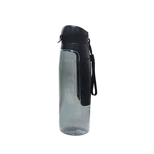Drug opslag fles sport theekop aluminiumlegering haak inklapbare outdoor reizen opslag ketel koffie kop opvouwen waterfles fiets, black, Drug storage bottle