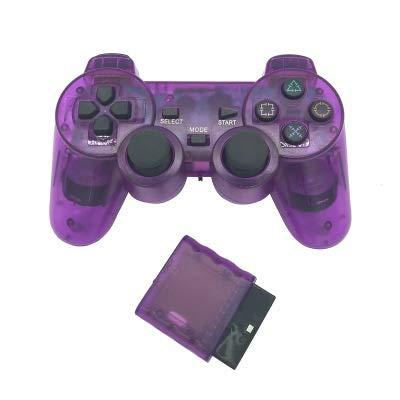 XIWAN For Mando inalámbrico Bluetooth Sony PS2 Gamepad for Play Station 2 Joystick for Consola de Dualshock 2 Color Transparente (Color : L)