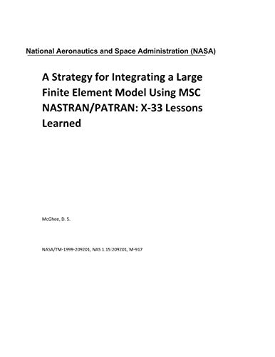 A Strategy for Integrating a Large Finite Element Model Using MSC NASTRAN/PATRAN: X-33 Lessons Learned