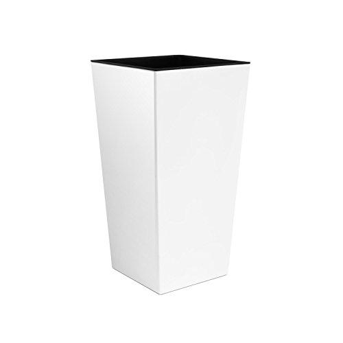Blumentopf mit Innentopf, 50cm hoch, Kunststoff, rutschsicher, Urbi-Serie, Größe XL, Weiß