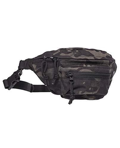 Tasmanian Tiger TT Modular Hip Bag Taktische Bauchtasche Molle kompatibel EDC Tasche mit 3 Fächern, Multicam Black