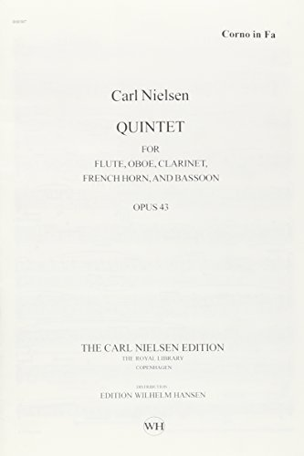 QUINTET FOR WINDS OP. 43 FL/CL/OB/FH/BSN REVISED CRITICAL EDITION PARTS by Carl Nielsen (2008-12-01)