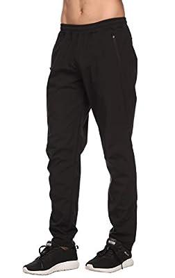 CQC Men's Fleece Cycling Bike Pants Windproof Thermal Athletic Sweatpants for Winter Outdoor Running Hiking Black XXL