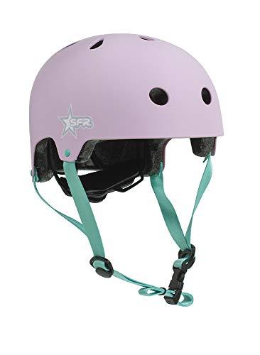 SFR Skates SFR Adjustable Kids Helmet Skateboard Helm Unisex Kinder Jugend Pink/Grün 46-52 cm