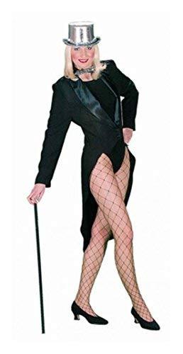 Déguisement Costume Femme Queue de Pie avec col Satin dans les tailles 34/36 à 46/48
