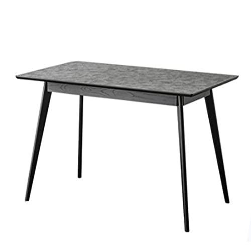 ChengBeautiful Mesa De Comedor Mesa de Comedor de losa de Roca nórdica Mesa de Cemento de mármol Negro Minimalista Minimalista Mesa de Comedor (Color : Black, Size : 140x75x80cm)