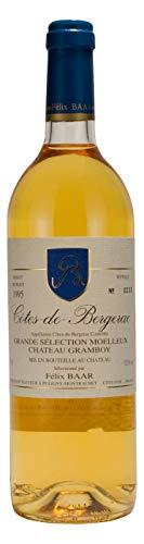 Côtes de Bergerac Grande Sélection Moelleux 1995 - Alter französischer Jahrgangswein aus Bergerac - Weiss, Sémillon, Muscadelle, Lieblich, Süß (750ml)