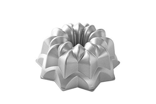 NordicWare Vintage Star Cake Pan, Aluminium, Silber, 25,4 x 25,4 x 12,7 cm, 1 Einheiten