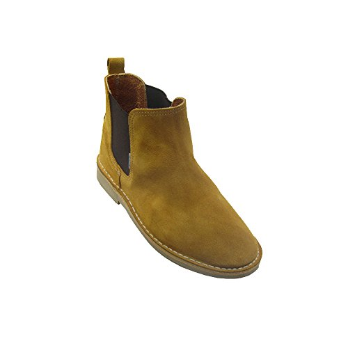 B324FP Safari Stiefel mit Gummizug Senfgelb, Gelb - Senf - Größe: 46 EU