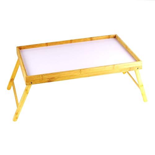 Vassoio Vassoio da letto Laptop Tavolo Laptop Vassoio pieghevole in legno di bambù E51
