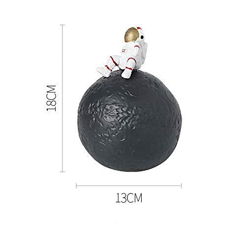 GYHJG Posacenere in Ceramica per Uso Domestico Tendenza personalità Creativa Ufficio Soggiorno Mobile TV Decorazione Astronauta 13X18Cm